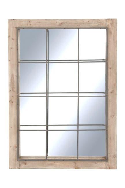 Image of Willow Row Wood Metal Rectangular Wall Mirror