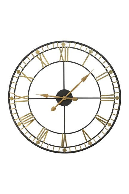 """Image of Stratton Home Oversized 31.50"""" Industrial Austin Wall Clock"""