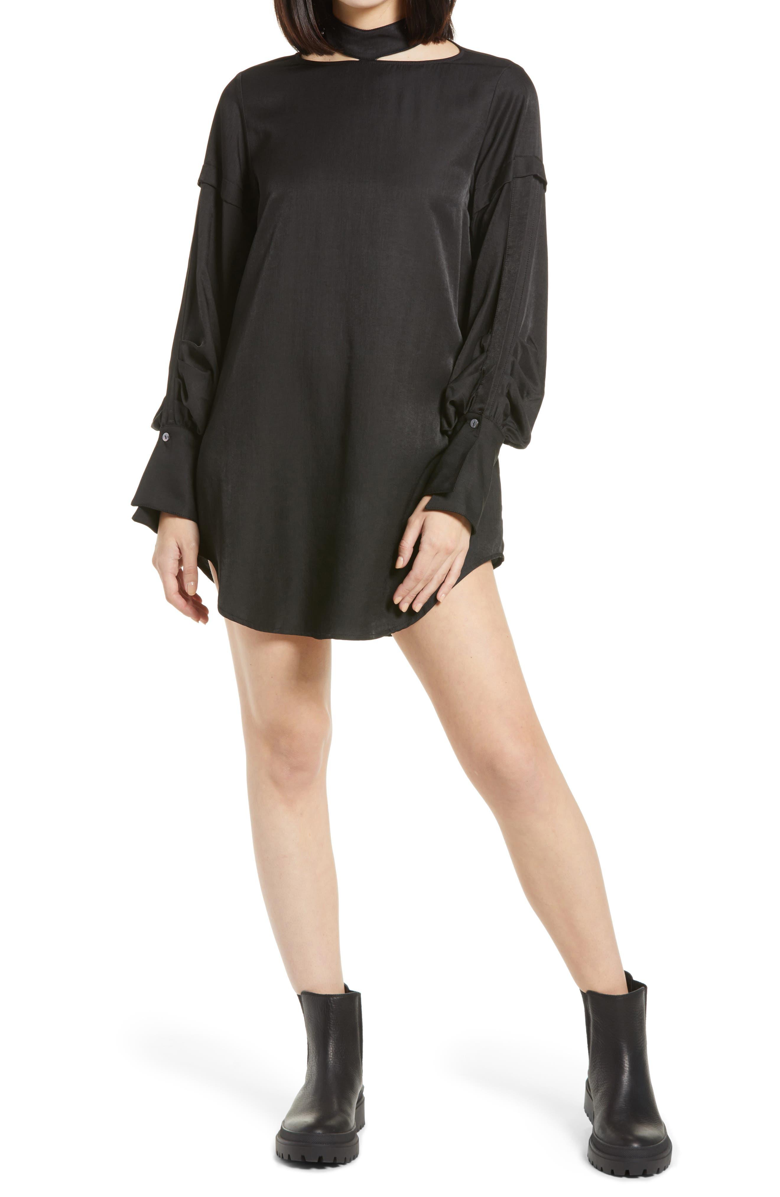 Annabelle Choker Collar Long Sleeve Dress