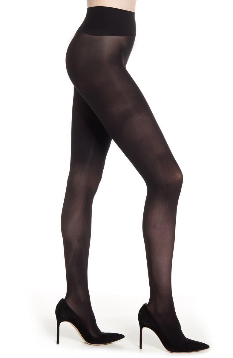 NATORI Two-Pack Revolutionary Seamless Opaque Tights, Main, color, 001