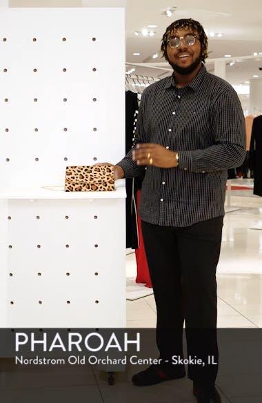 Genuine Calf Hair Leopard Print Clutch, sales video thumbnail