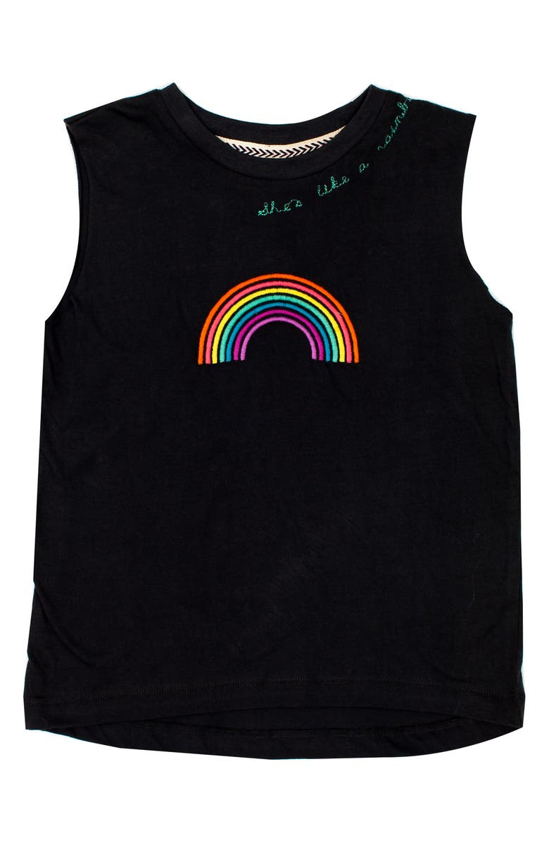 BOWIE X JAMES Embroidered Cotton Tank, Main, color, 409