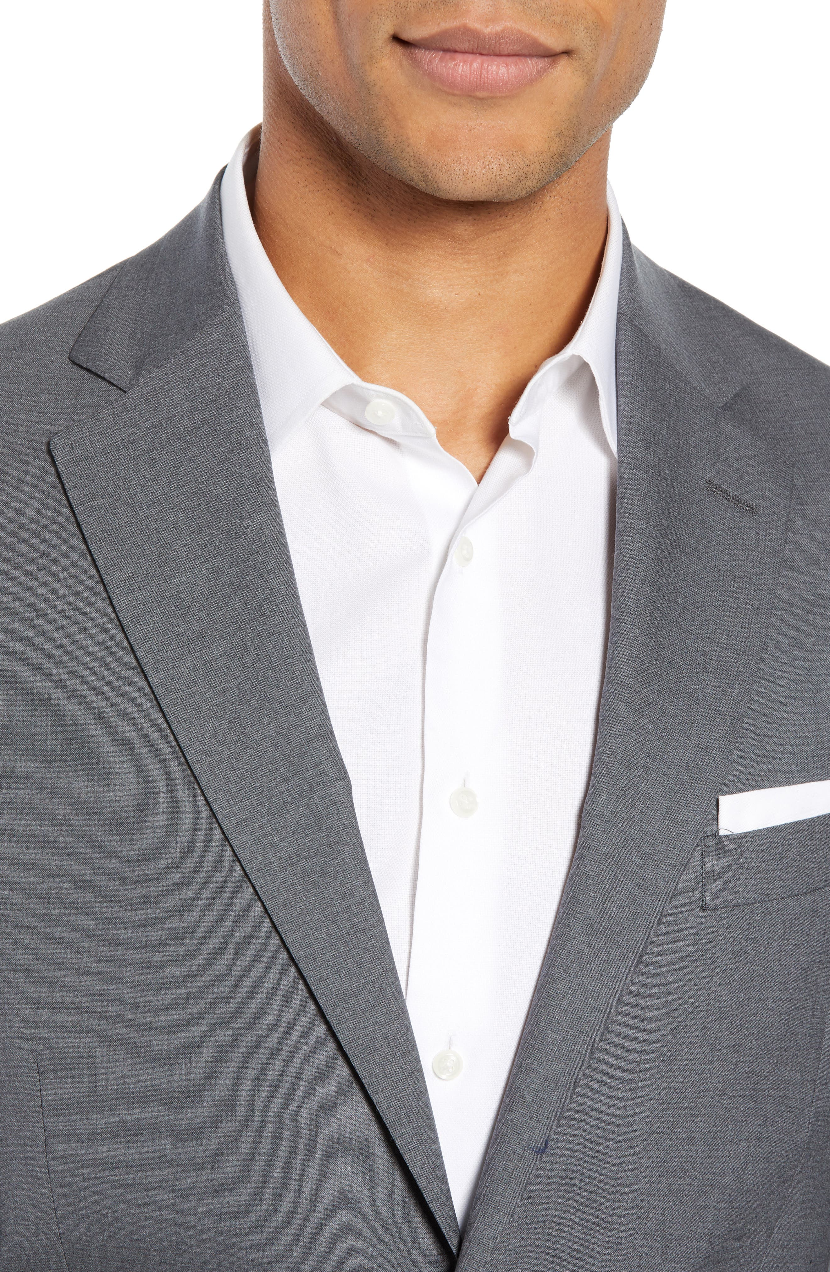 ,                             Tech-Smart Trim Fit Stretch Wool Travel Sport Coat,                             Alternate thumbnail 5, color,                             GREY