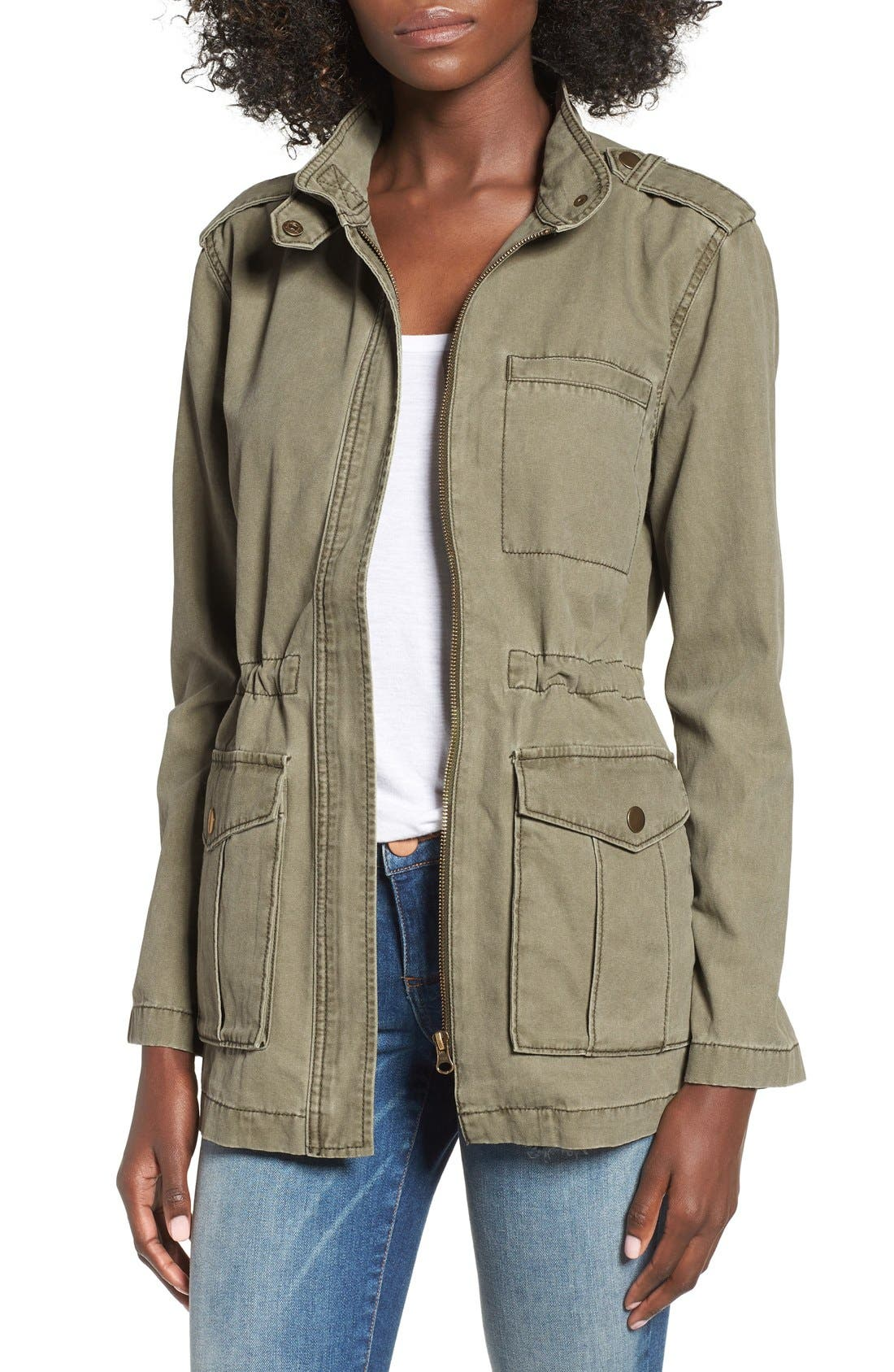 Cotton Canvas Anorak, Main, color, 311