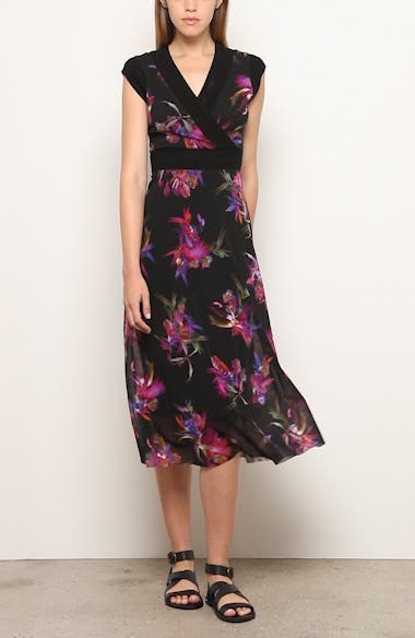Floral Print Midi Dress, video thumbnail