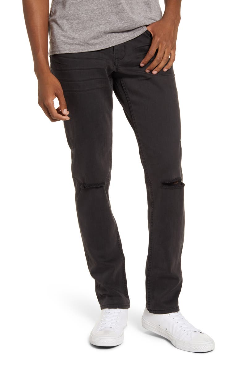 BP. Ripped Stretch Skinny Jeans, Main, color, BLACK JASON WASH