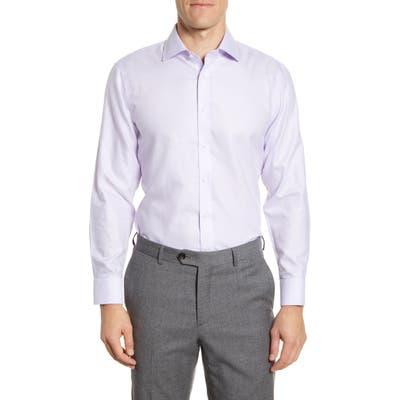 The Tie Bar Trim Fit Solid Textured Dress Shirt - Purple
