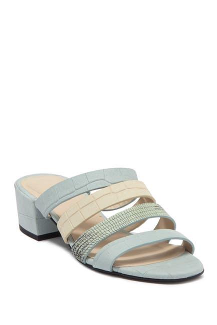 Image of FREDA SALVADOR Irene Leather Low Heel Sandal