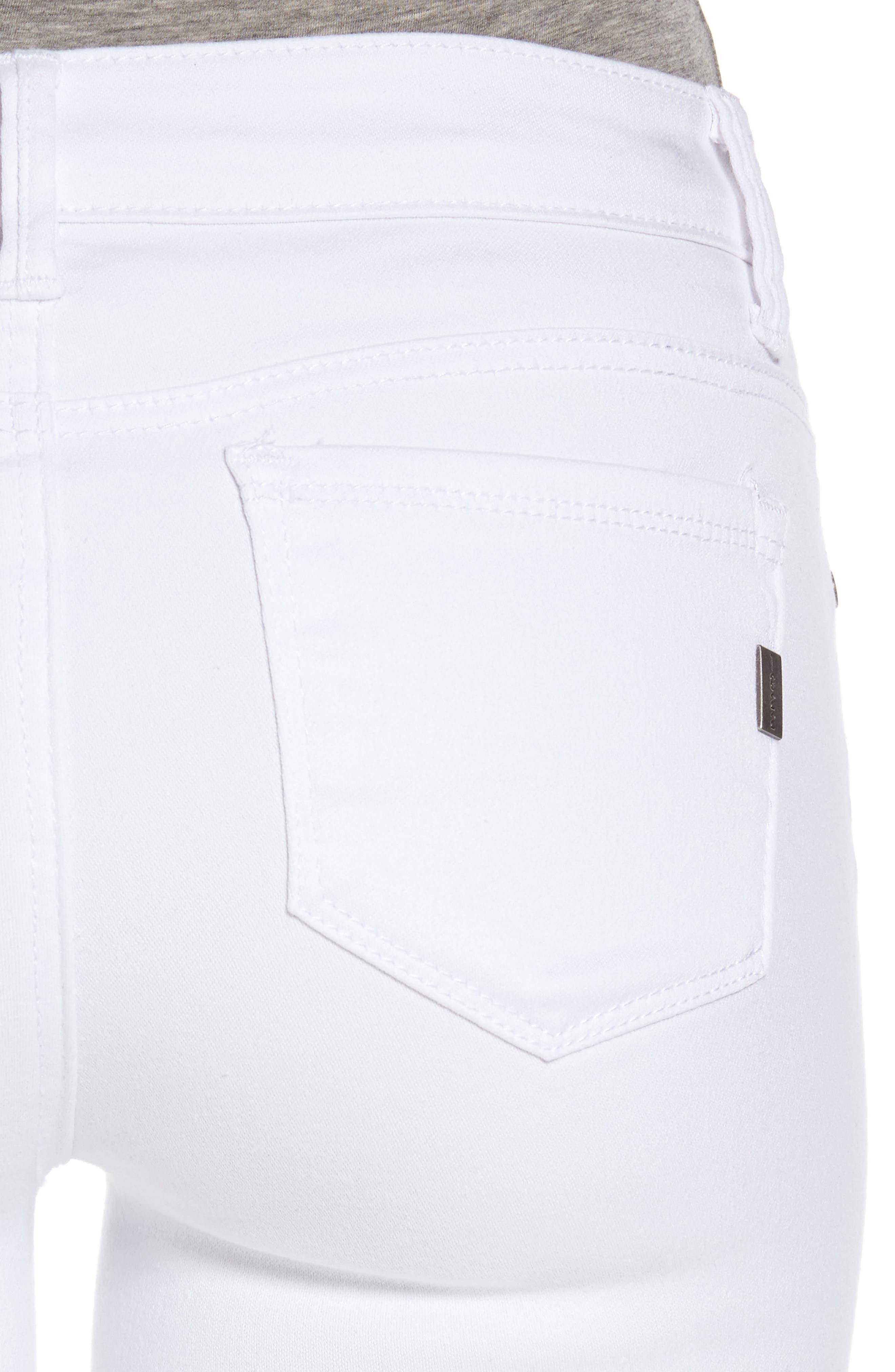 ,                             1822 Butter Skinny Jeans,                             Alternate thumbnail 5, color,                             WHITE