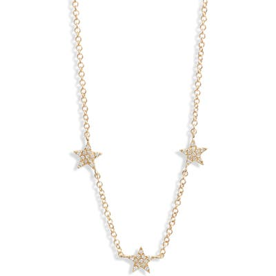 Ef Collection Three-Star Diamond Choker Necklace