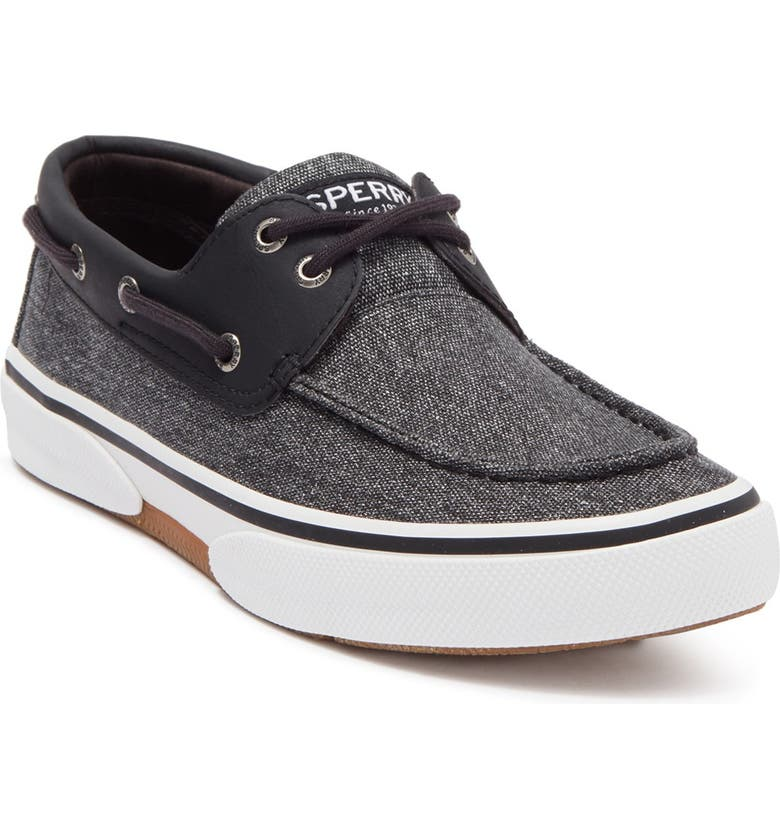SPERRY TOP-SIDER Halyard 2-Eye Chambray Sneaker, Main, color, GREY/BLACK