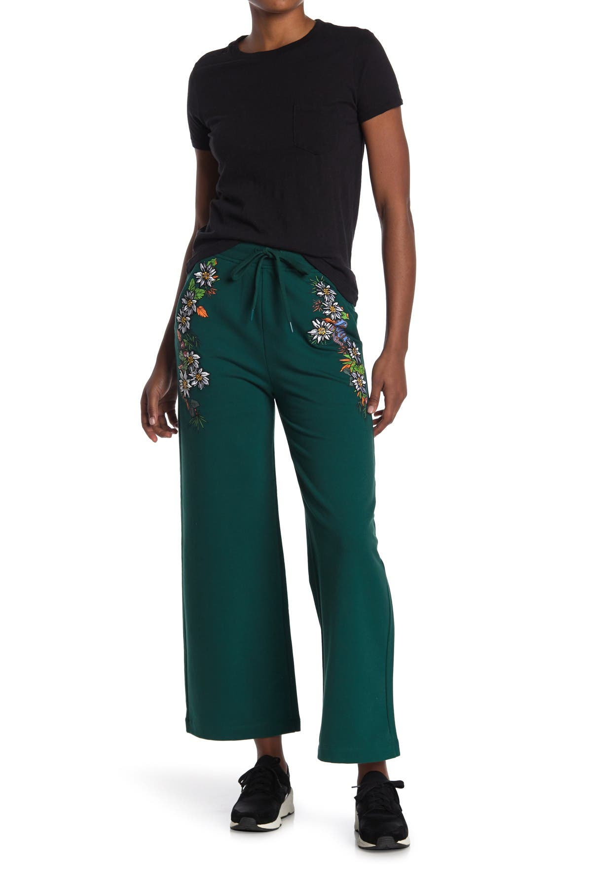 Image of LOVE Moschino Trousers With Embroideries