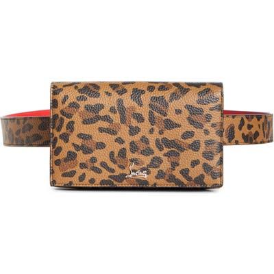 Christian Louboutin Boudoir Leather Belt Bag - Brown