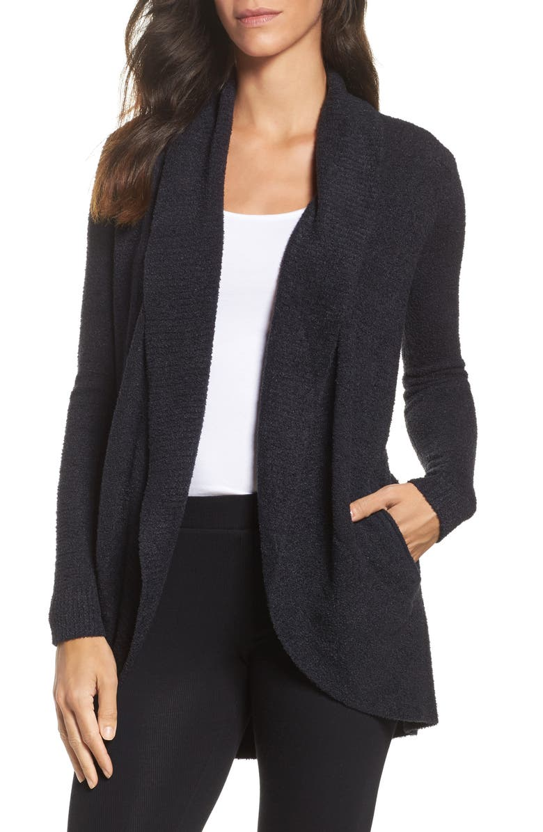 BAREFOOT DREAMS<SUP>®</SUP> CozyChic Lite<sup>®</sup> Circle Cardigan, Main, color, BLACK