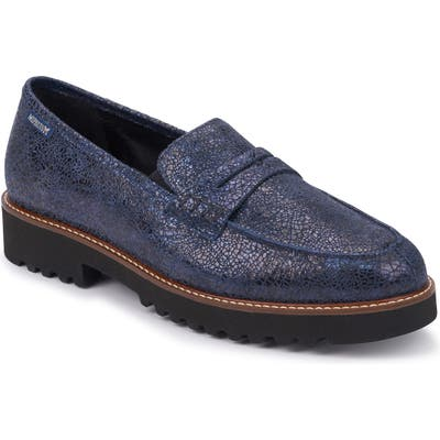 Mephisto Sidney Penny Loafer- Blue