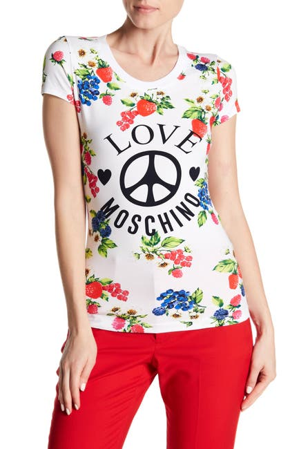 Image of LOVE Moschino Fruittini Logo T-Shirt