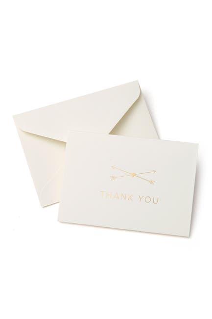 Image of GARTNER STUDIOS Gold Foil Heart & Arrow Thank You Cards - Set of 50