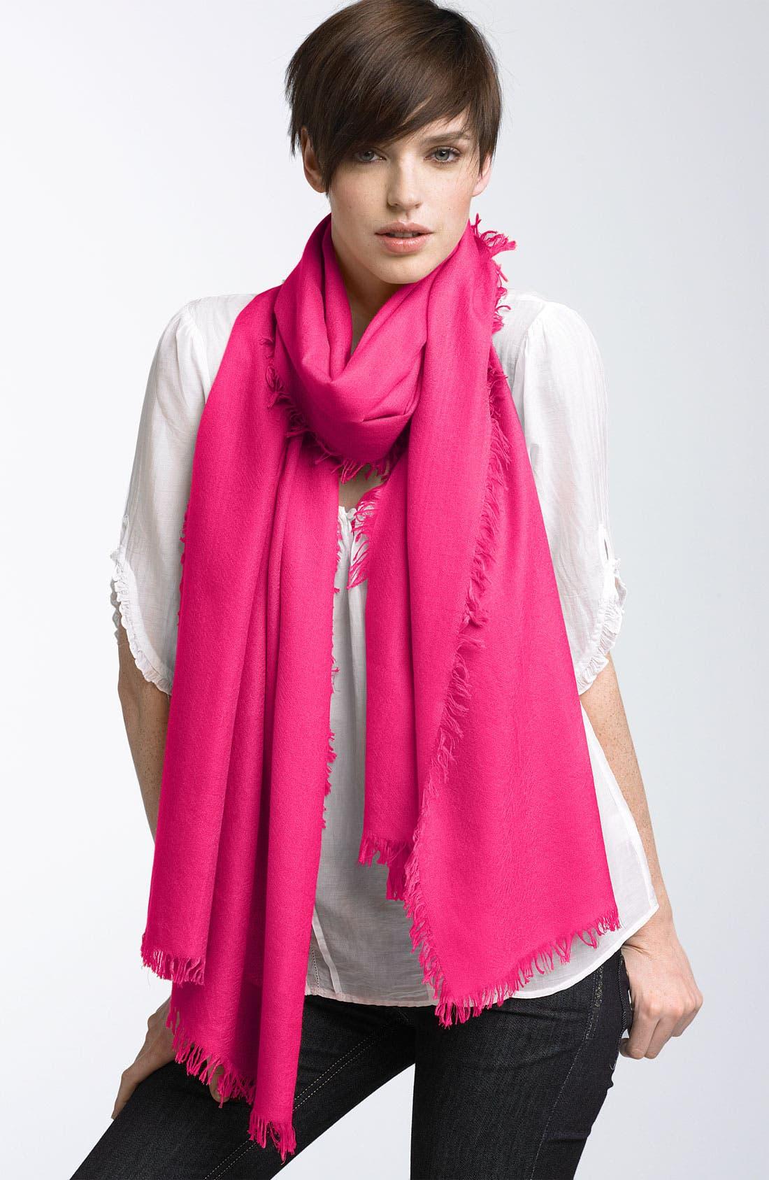 ,                             'Eyelash' Colorblock Cashmere Wrap,                             Main thumbnail 87, color,                             652