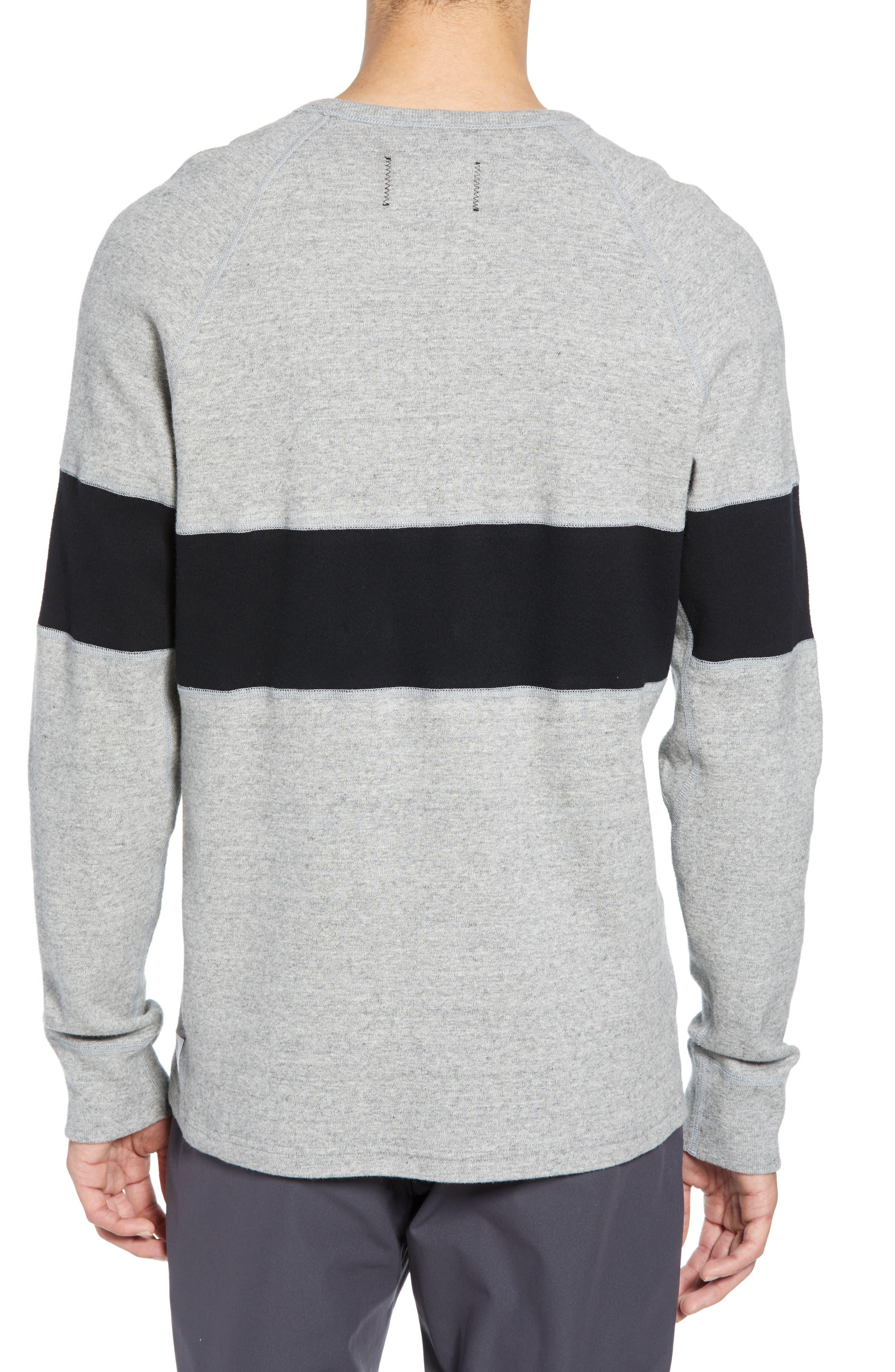 ,                             Rugby Crewneck Sweatshirt,                             Alternate thumbnail 2, color,                             MEDIUM GREY/ BLACK