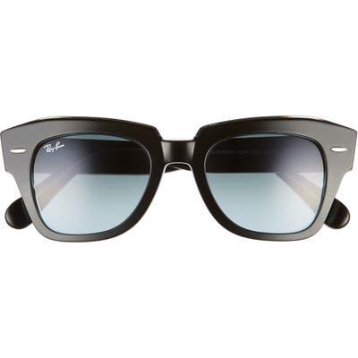 Ray-Ban State Street 4m Gradient Square Sunglasses - Black/ Blue Gradient Grey