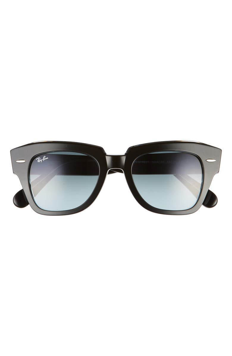 RAY-BAN State Street 49mm Gradient Square Sunglasses, Main, color, BLACK/ BLUE GRADIENT GREY