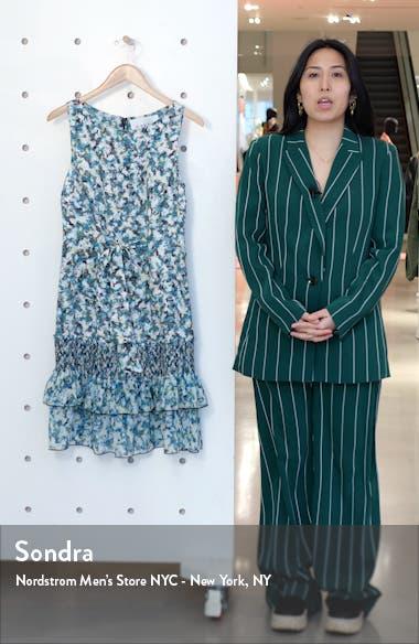 Chacha Ruffle Floral Silk Dress, sales video thumbnail