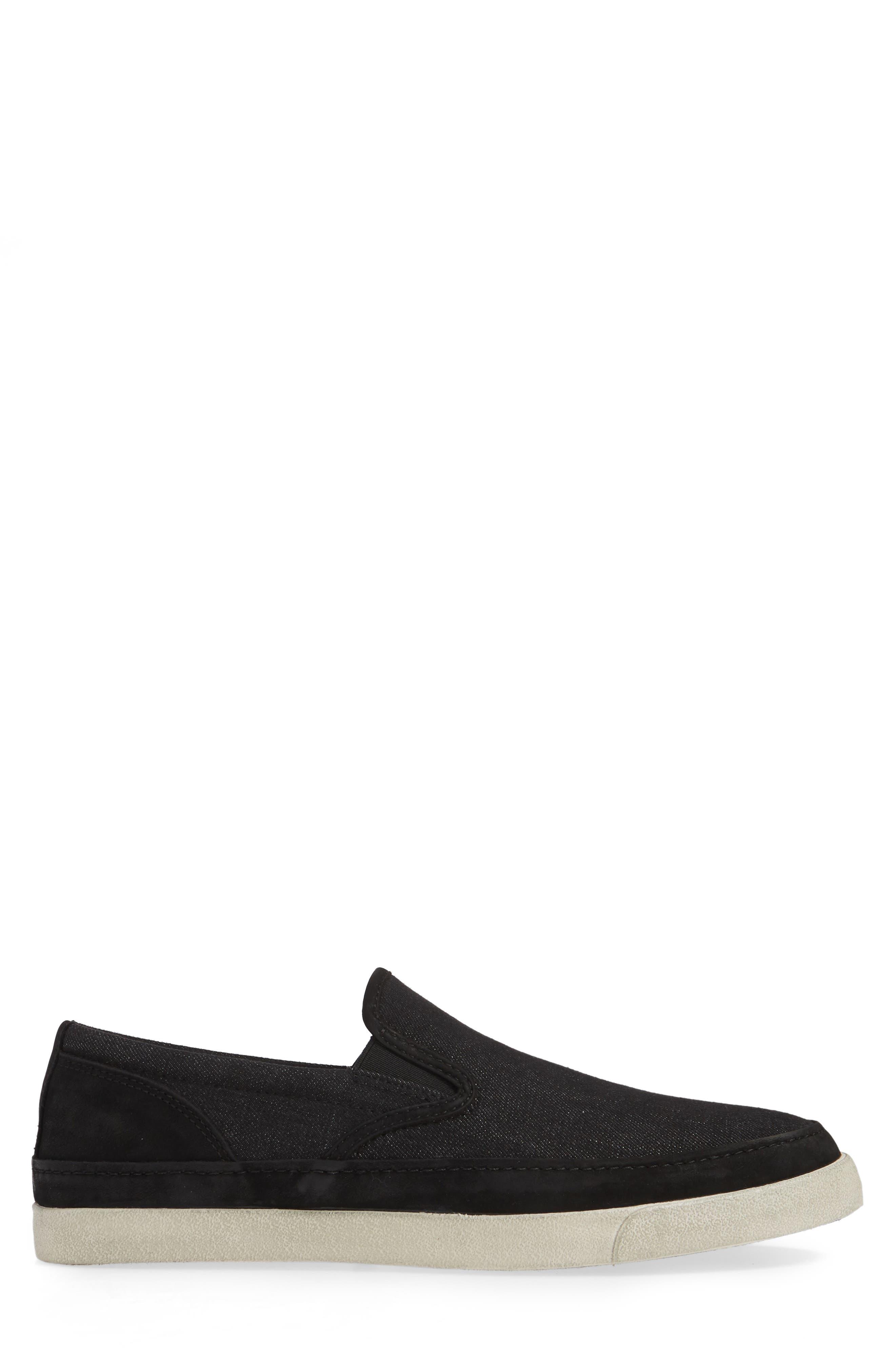 ,                             Jet Canvas Slip-On Sneaker,                             Alternate thumbnail 3, color,                             MINERAL BLK