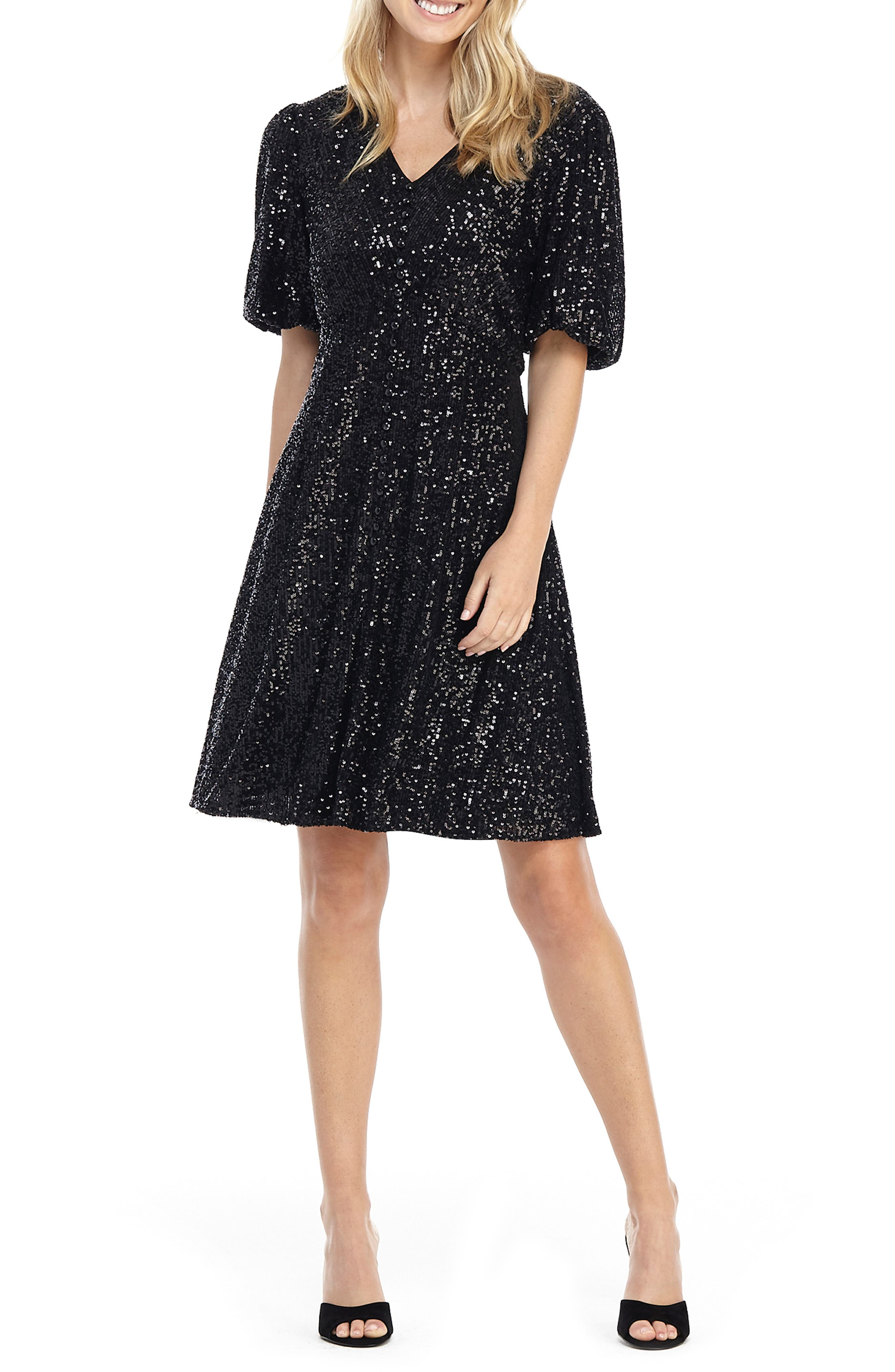 Image of Gal Meets Glam Sequin Fit & Flare Dress