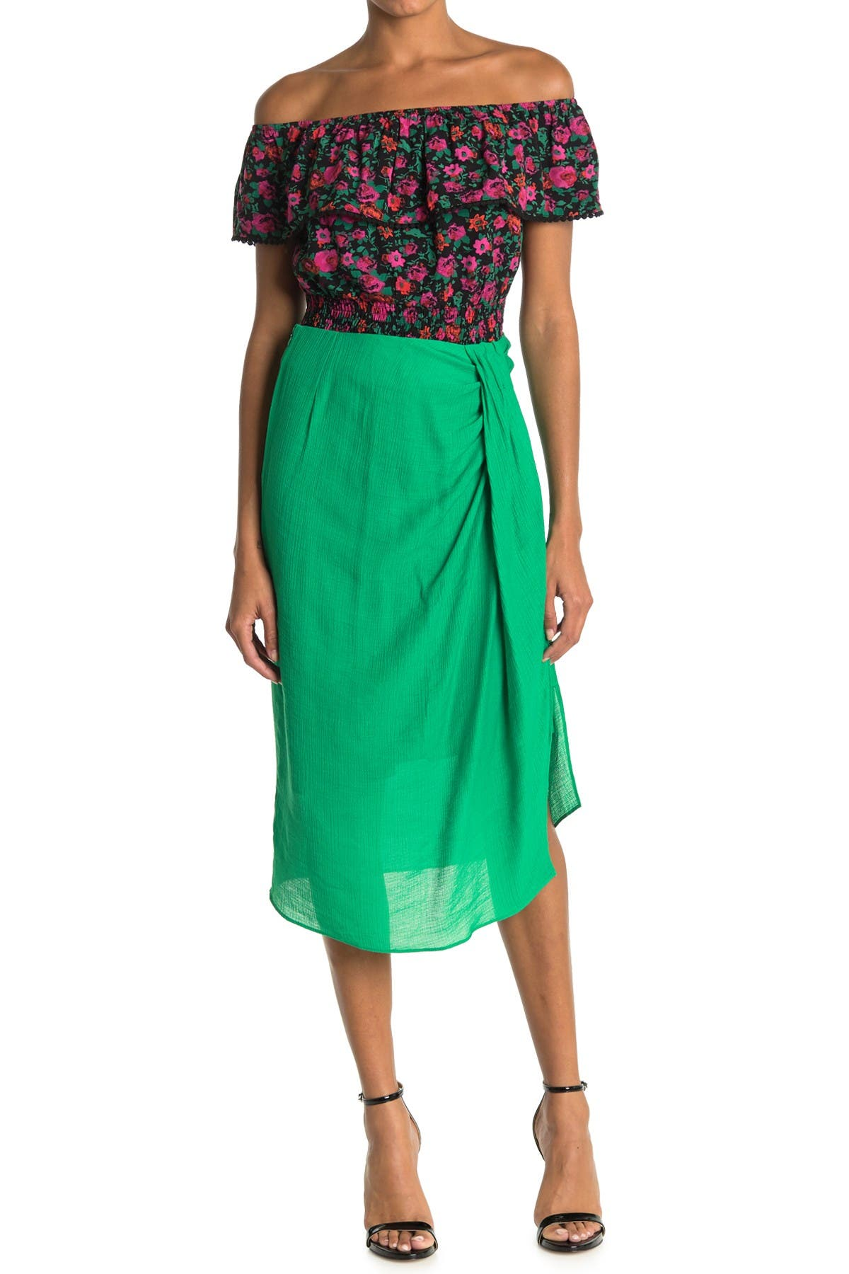 Image of Lush Side Scrunch Skirt