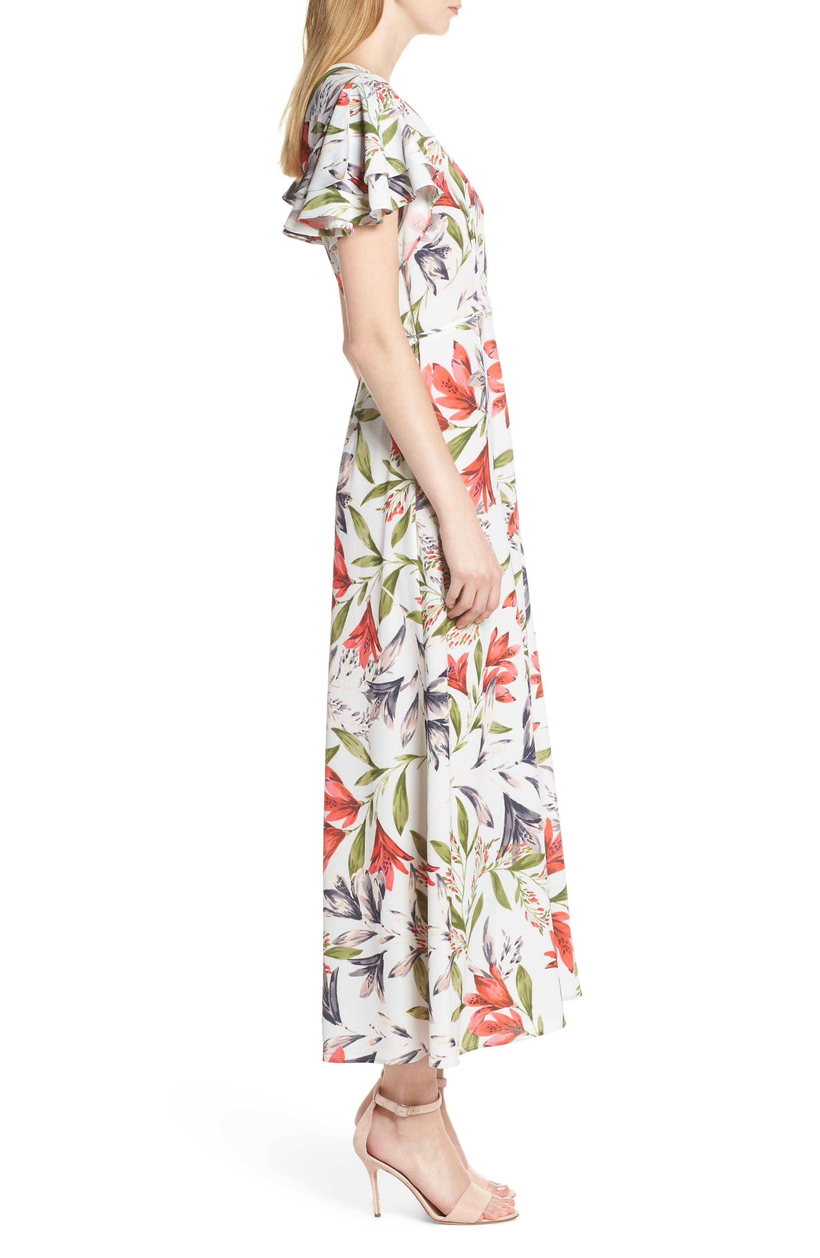 ,                             Cadencia Cari Floral Maxi Dress,                             Alternate thumbnail 4, color,                             LIGHT DREAM BLUE MULTI