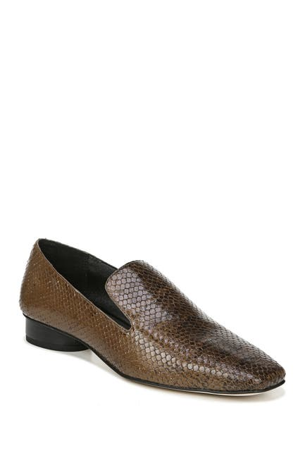 Image of Franco Sarto Faith Snakeskin Embossed Leather Loafer