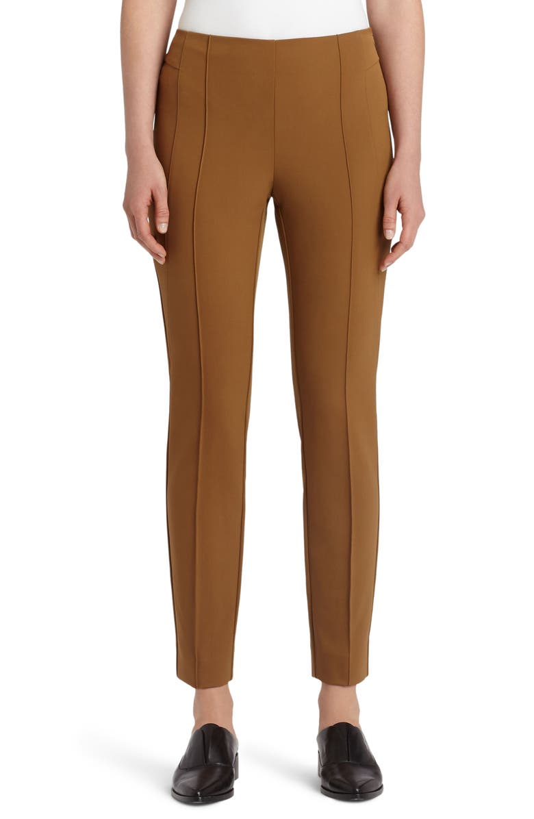 LAFAYETTE 148 NEW YORK 'Gramercy' Acclaimed Stretch Pants, Main, color, MAPLE