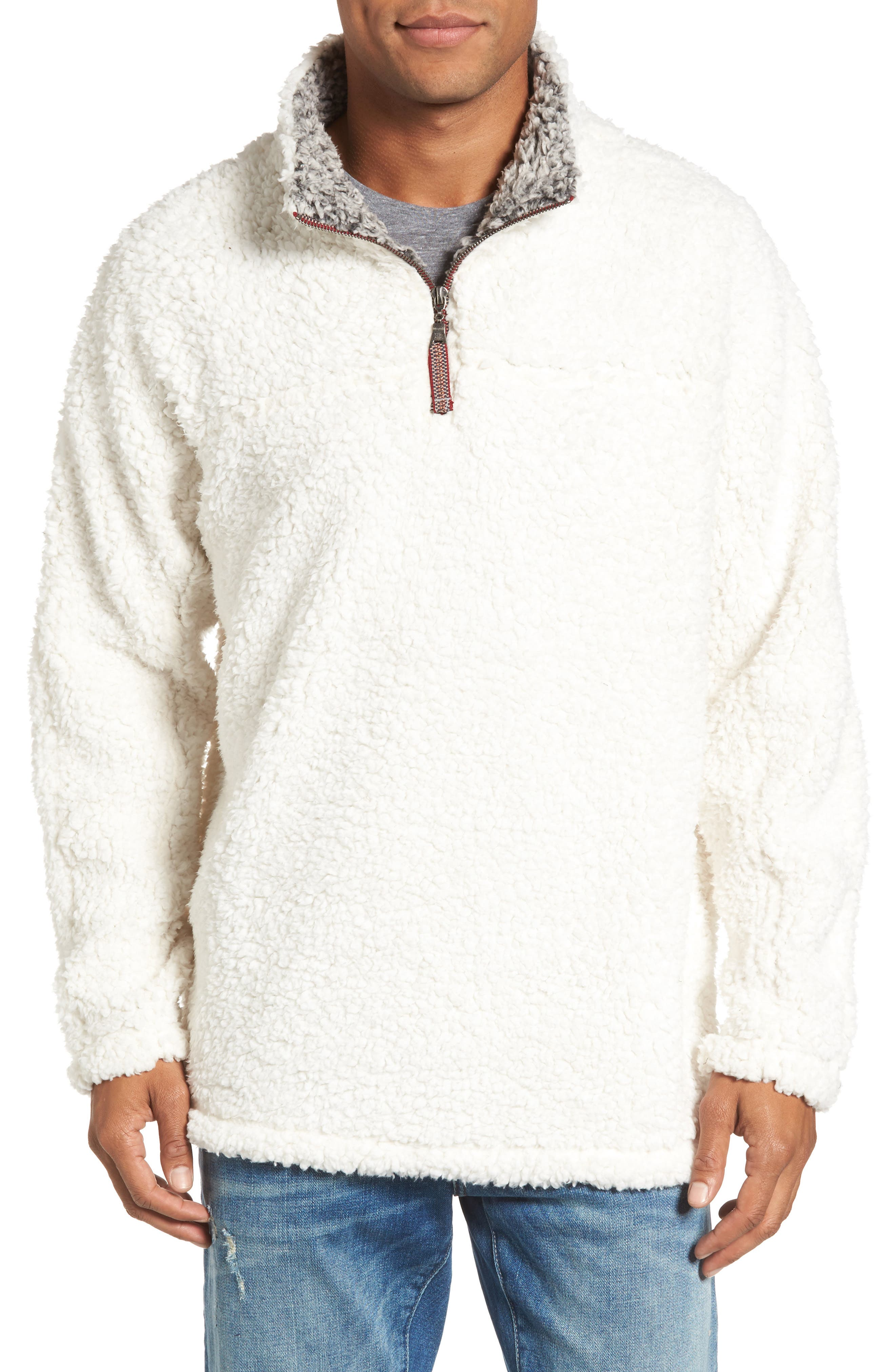 ,                             Frosty Tipped Quarter Zip Pullover,                             Main thumbnail 50, color,                             905