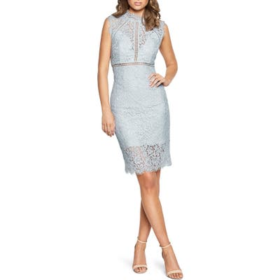 Bardot Lace Sheath Dress, Blue