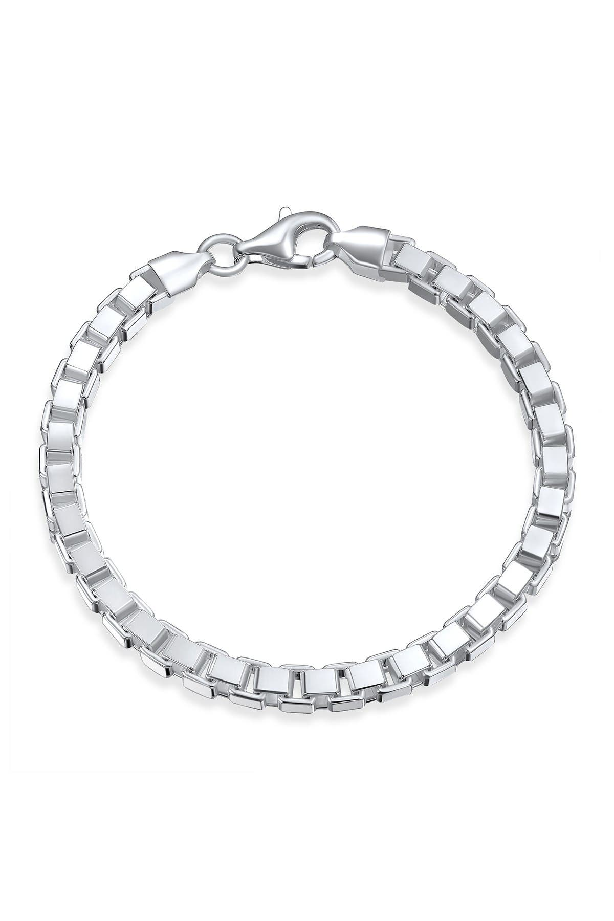 Image of Bling Jewelry Sterling Silver Box Chain Bracelet