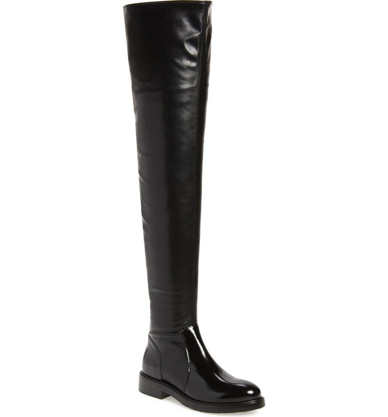 JEFFREY CAMPBELL Lennard Thigh High Boot, Main, color, BLACK