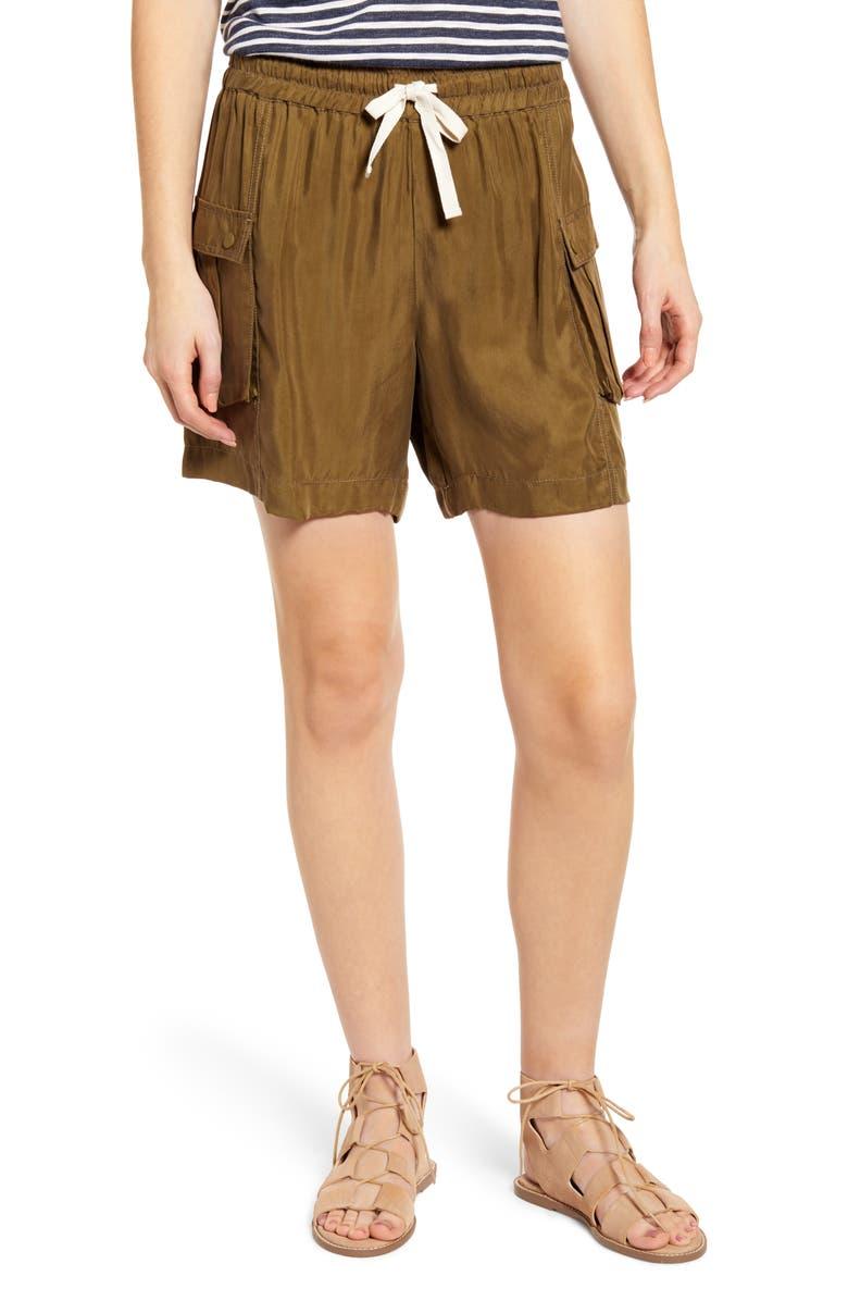 SCOTCH & SODA Drapey Cargo Shorts, Main, color, MILITARY GREEN