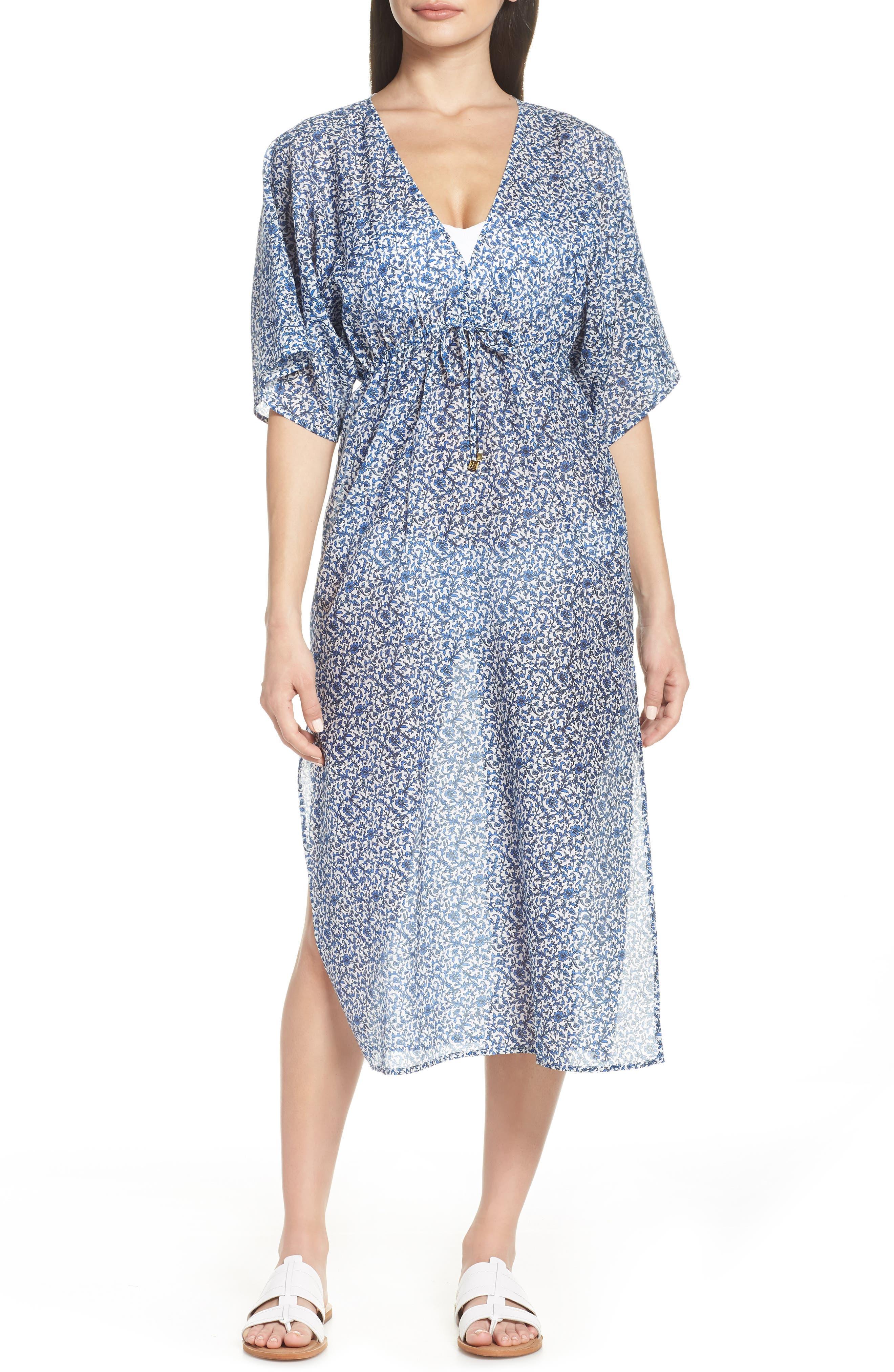 Tory Burch Beach Cover-Up Dress, Blue