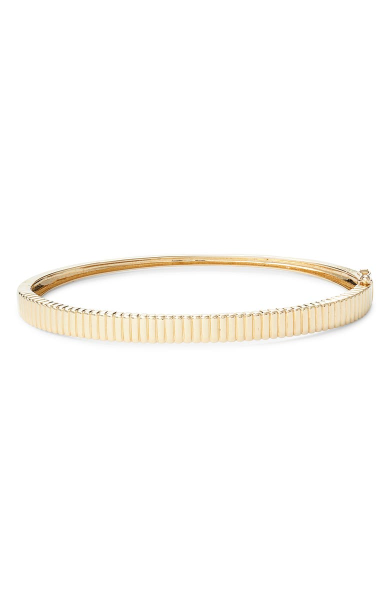 BONY LEVY 14K Gold Beveled Bangle, Main, color, YELLOW GOLD