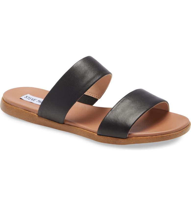 STEVE MADDEN Dual Woven Slide Sandal, Main, color, 001