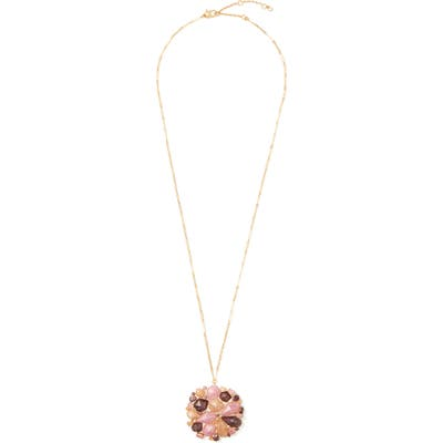 Kate Spade New York Floral Facets Pendant Necklace