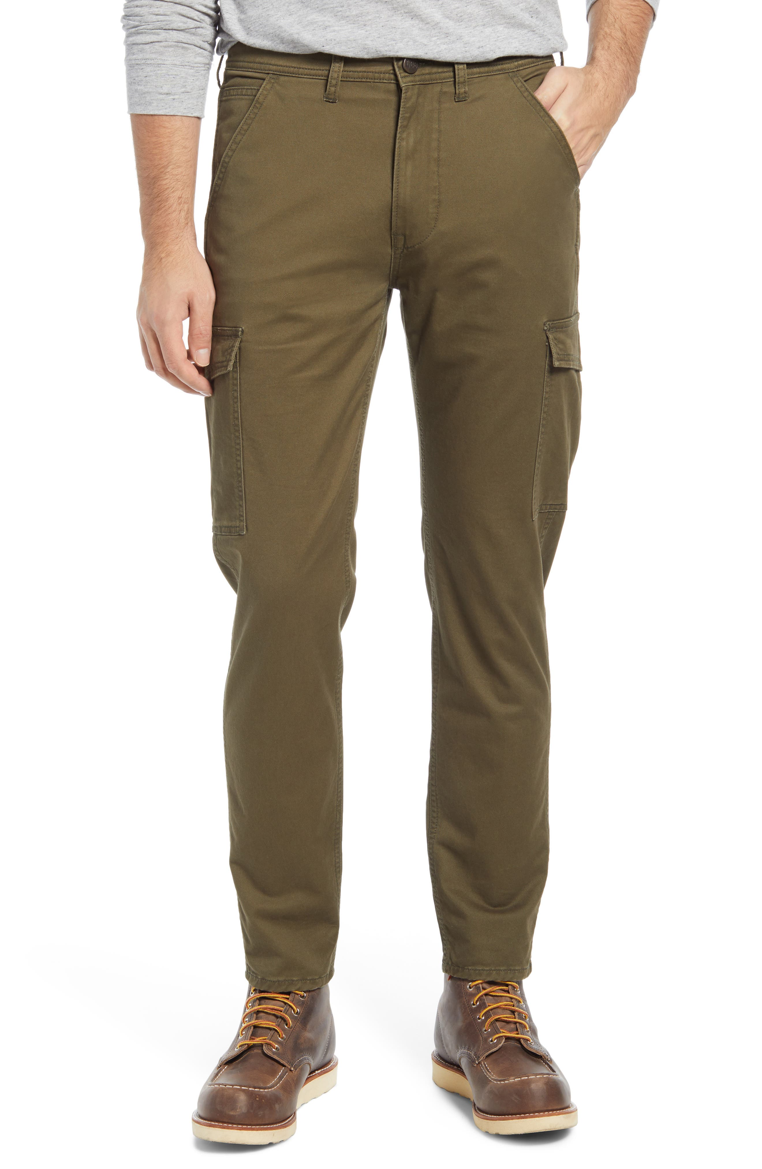 Regular Tapered Leg Twill Cargo Pants