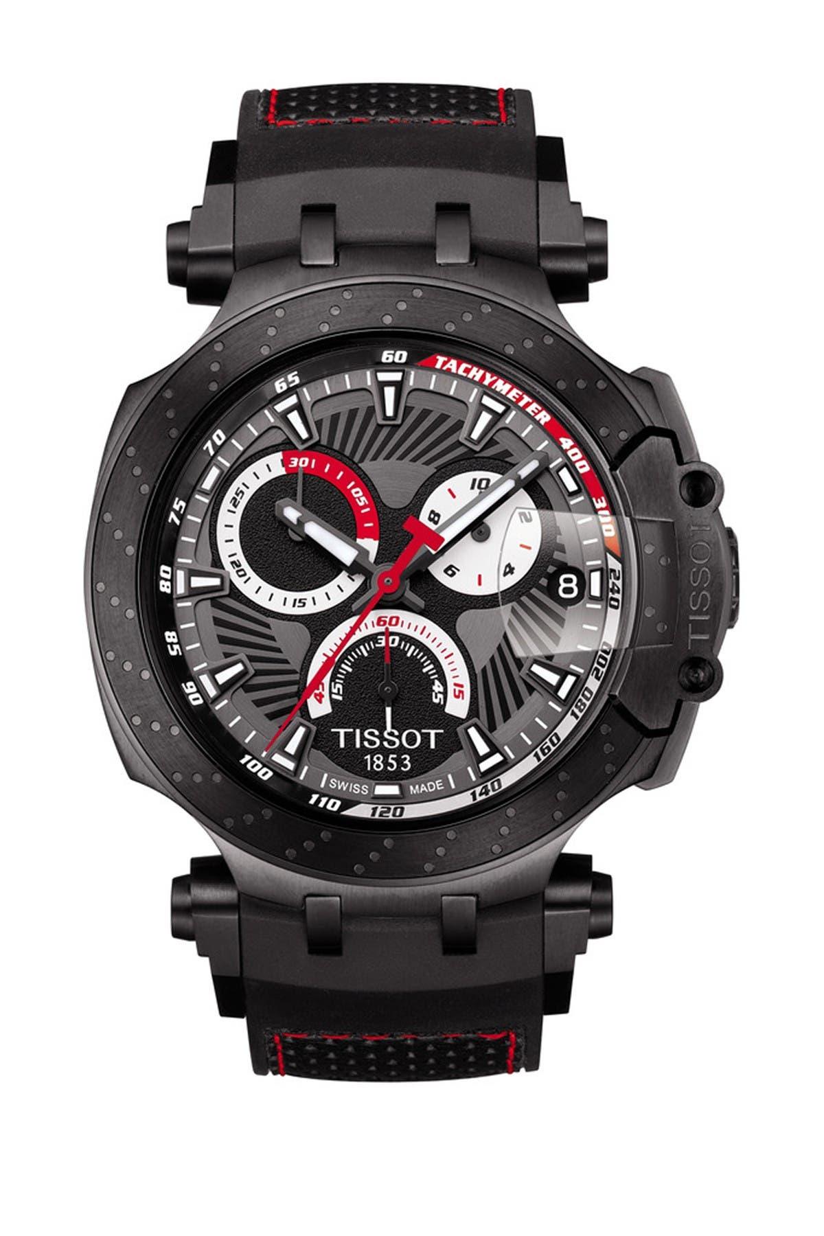 Image of Tissot Men's T-Race Jorge Lorenzo 2018 Limited Edition Swiss Watch, 47mm