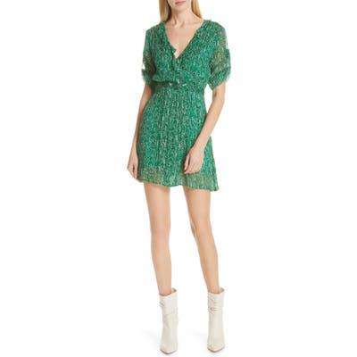 Ba & sh Clem Metallic Paisley Dress, Green