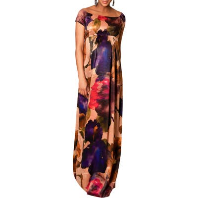 Tiffany Rose Aria Floral Maternity Gown, (fits like 8-10 US) - Pink