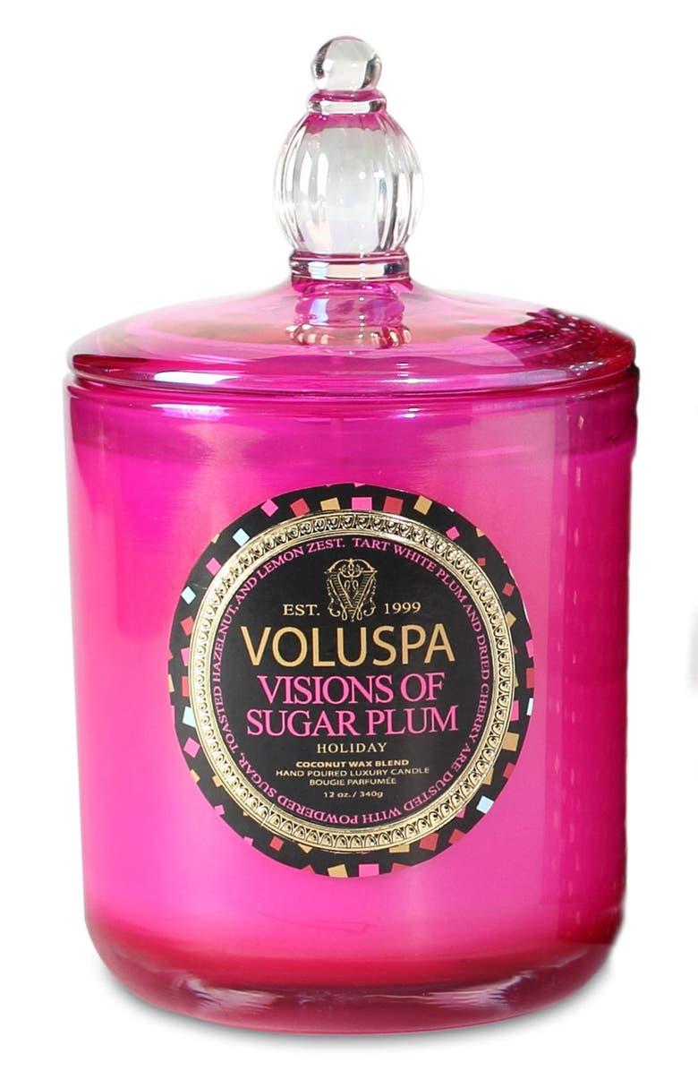 VOLUSPA 'Maison Holiday - Visions of Sugar Plum' Decorative Candle, Main, color, 000