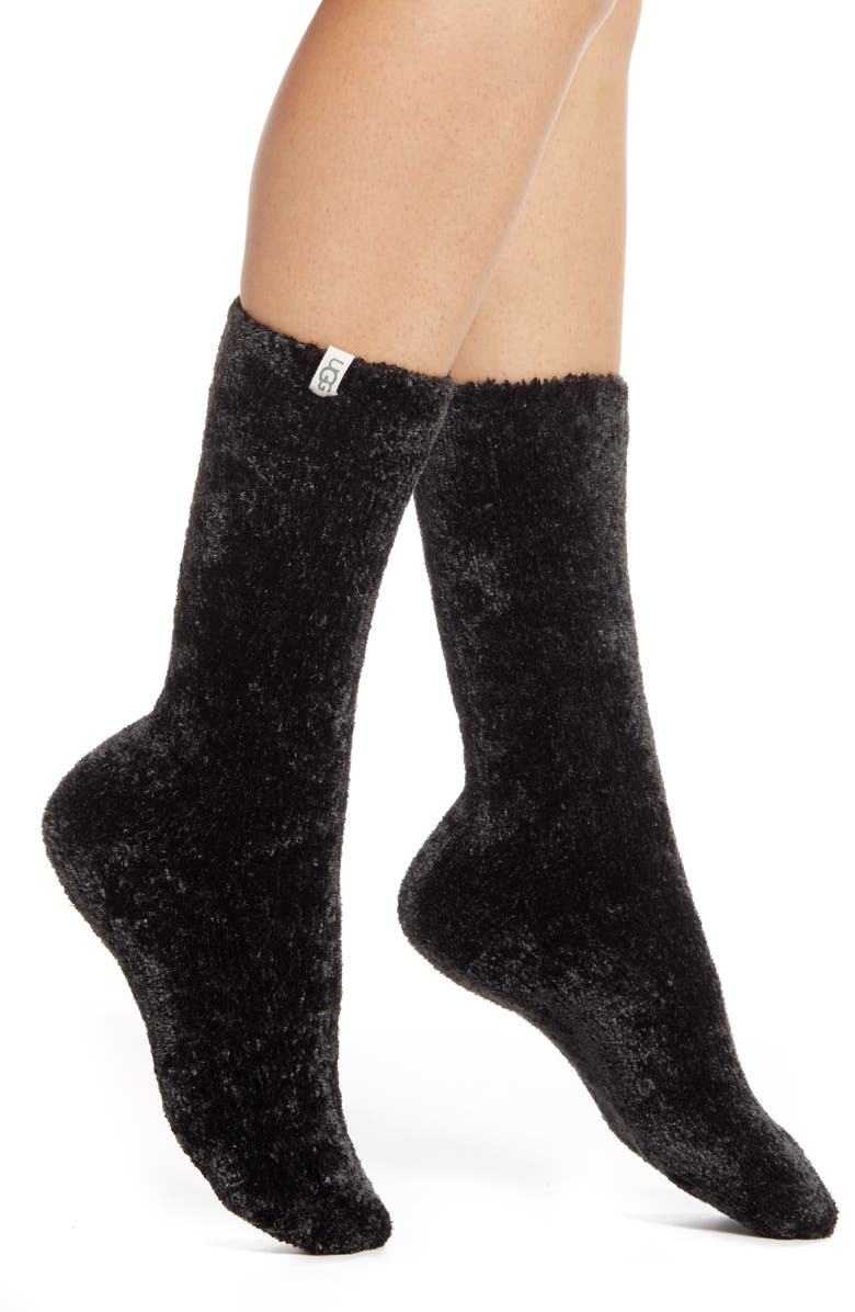 UGG<SUP>®</SUP> Leda Cozy Socks, Main, color, BLK