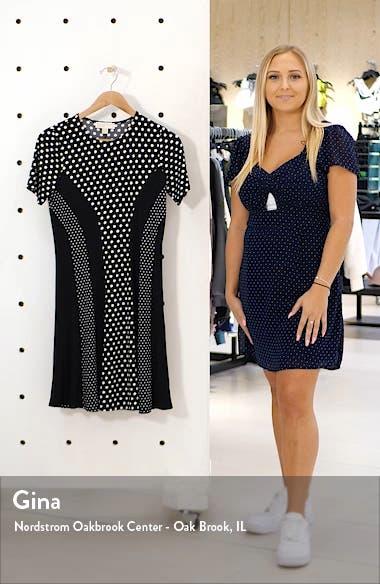 Michael Kors Mod Dot Combo Fit & Flare Dress, sales video thumbnail