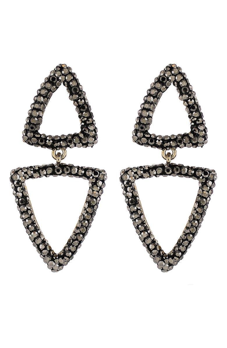 PANACEA Luxe Double Triangle Drop Earrings, Main, color, 001