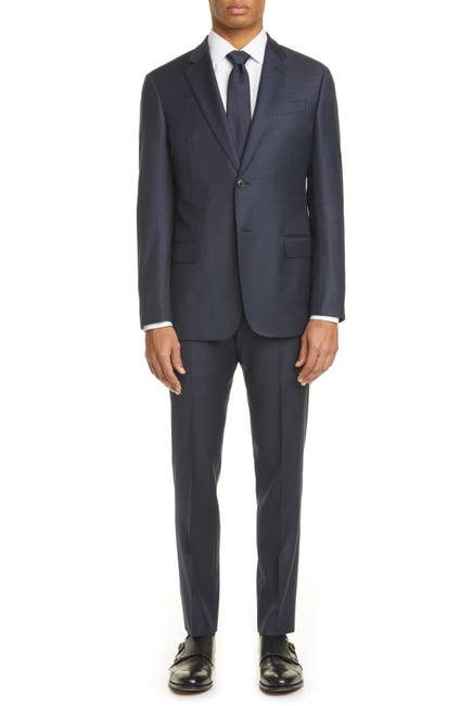 Image of Emporio Armani G Line Trim Fit Check Wool Suit
